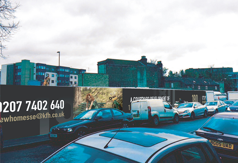180 Brockley Hoarding
