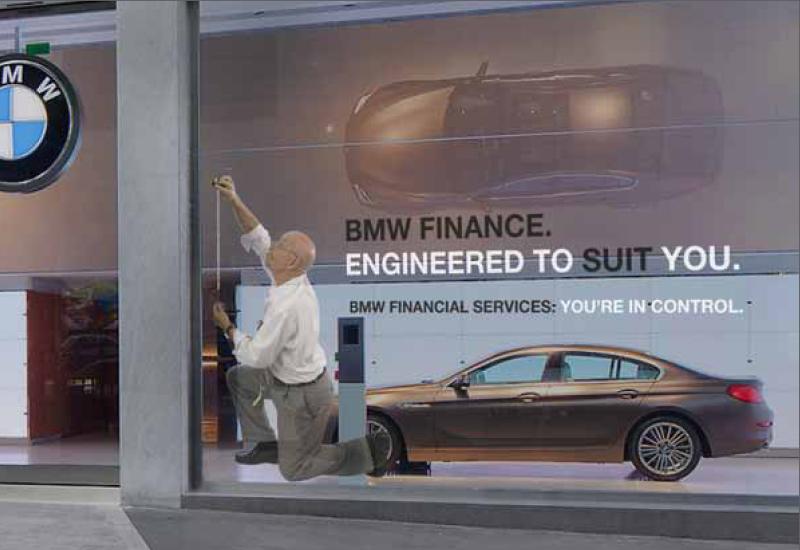 BMW Window Advert