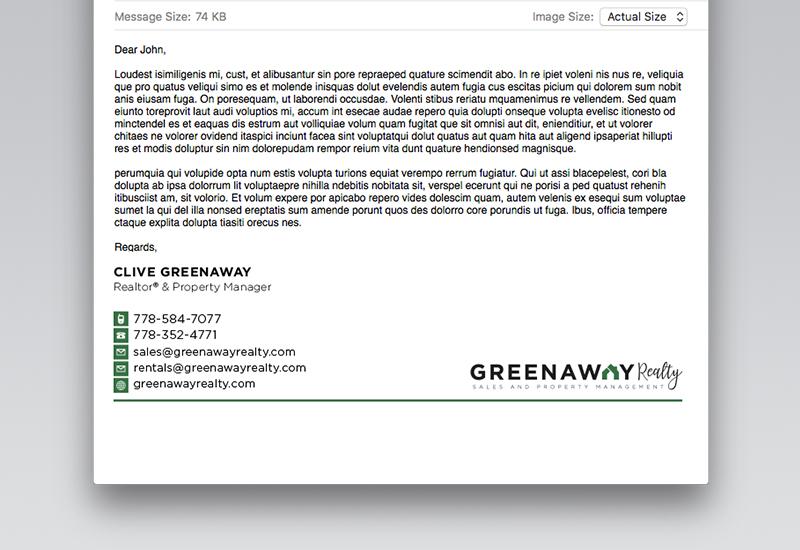 Greenaway Email Signature