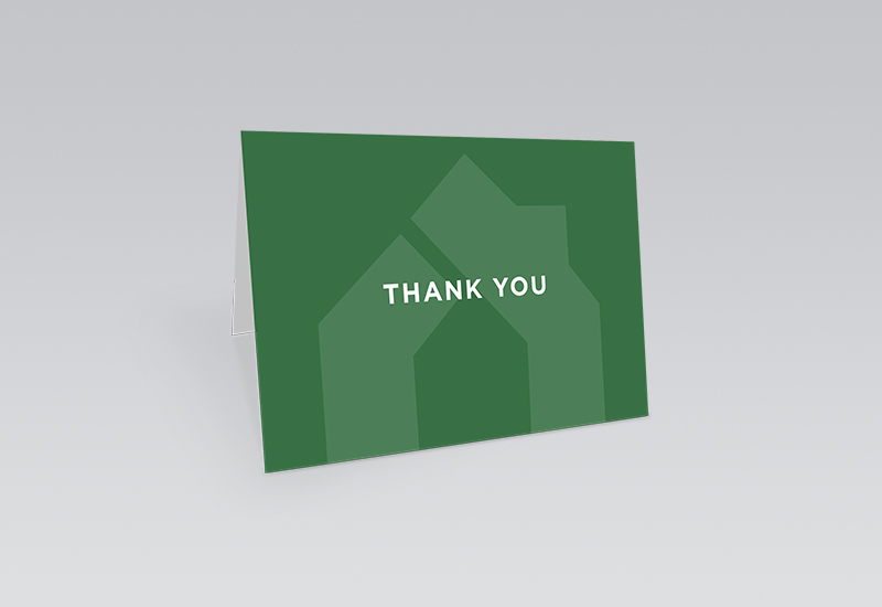 Greenaway Thank You Card