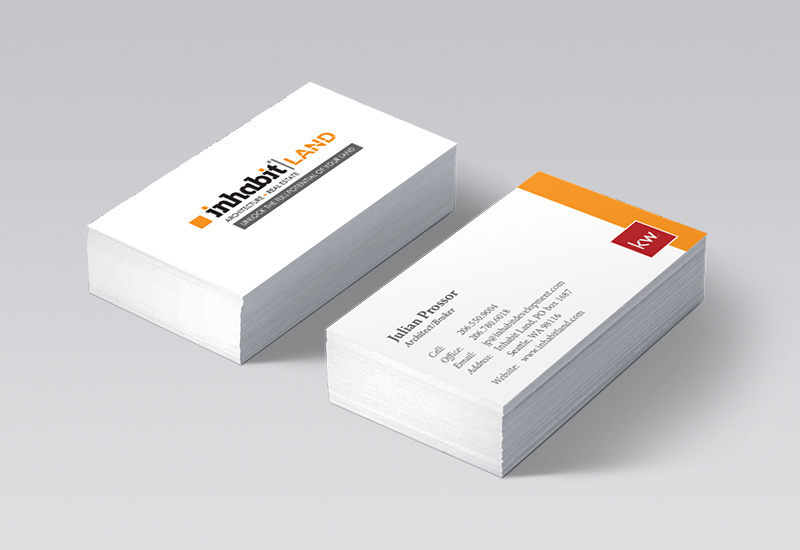 Inhabit Land Business Cards