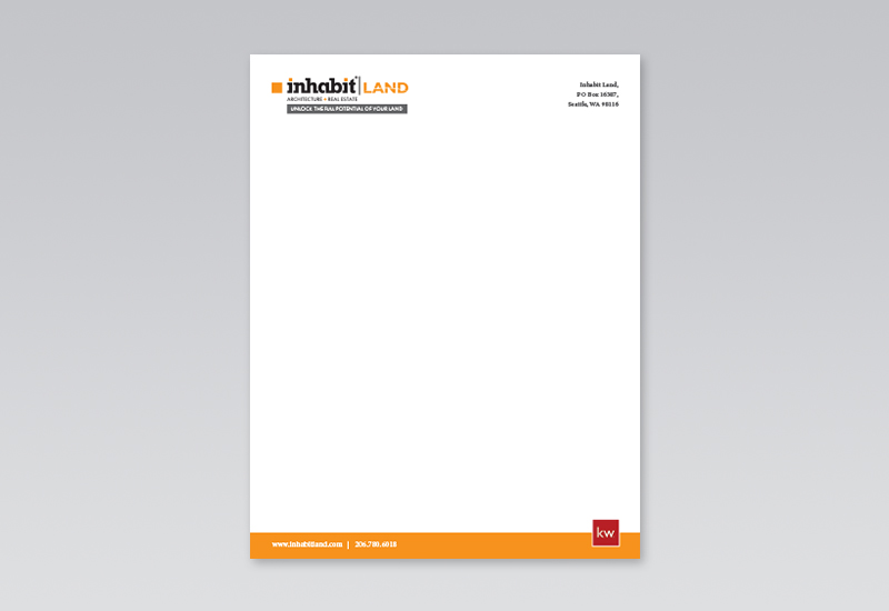 Inhabit Land Letterhead
