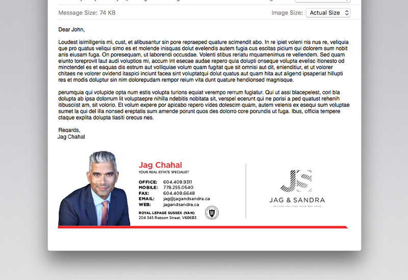 Jag & Sandra Email Signature