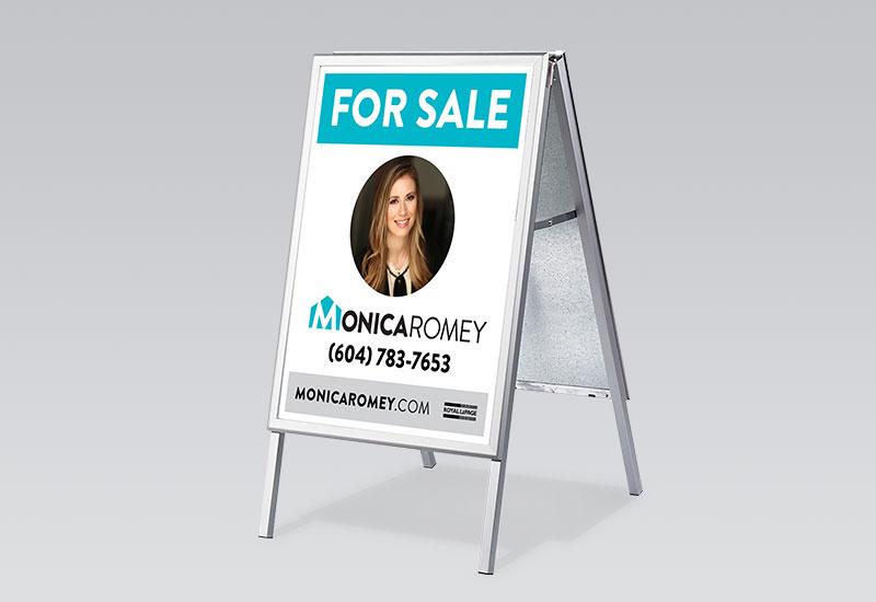 Monica Romey Sandwich Board