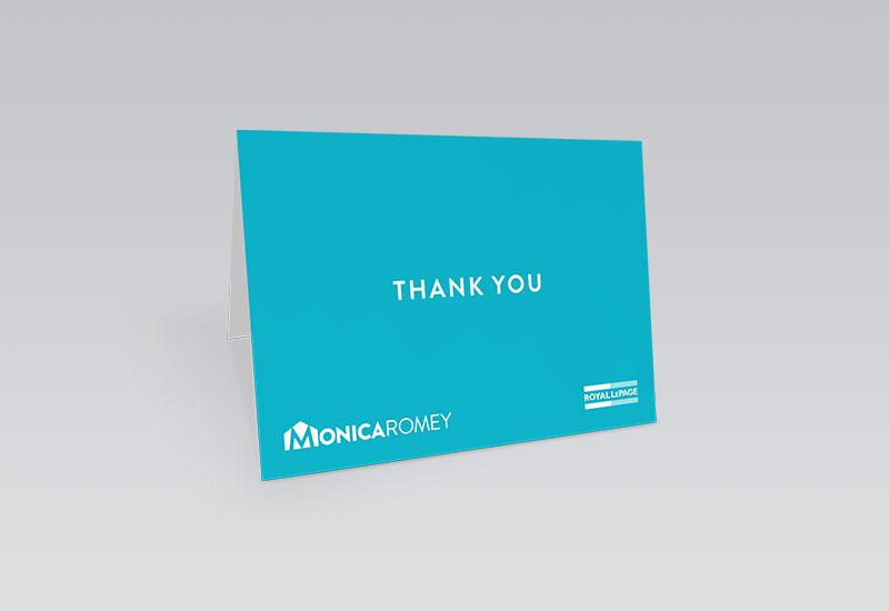 Monica Romey Thank You Card