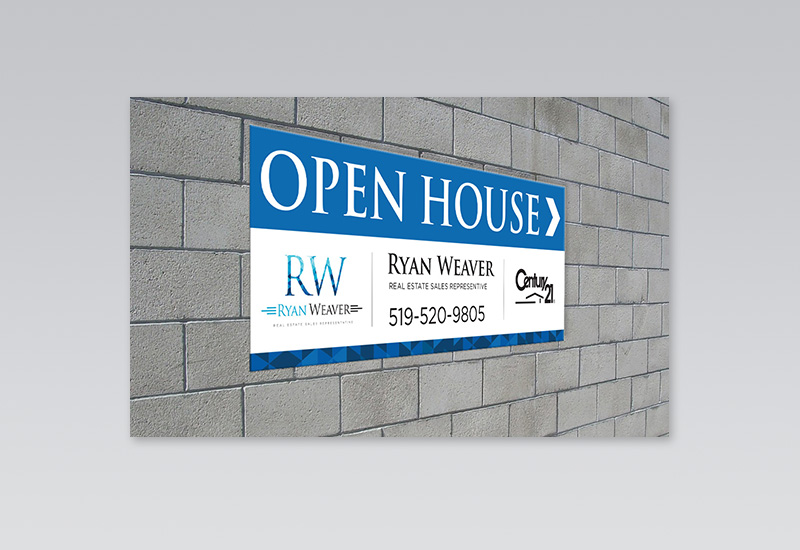 Ryan Weaver Directional Sign