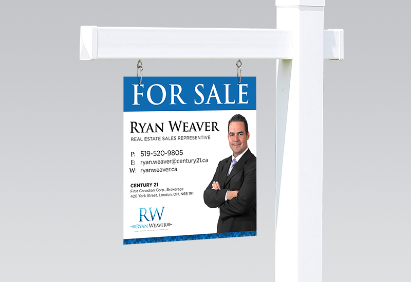Ryan Weaver For Sale Sign