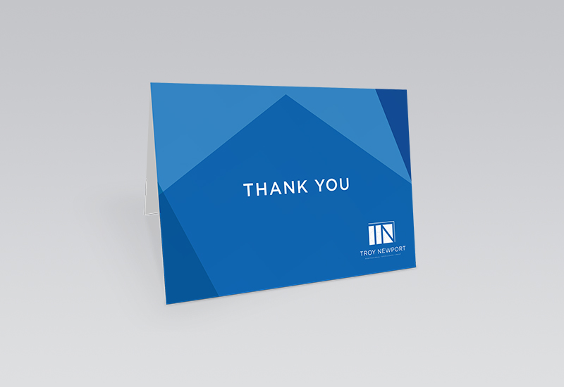Troy Newport Thank You Card