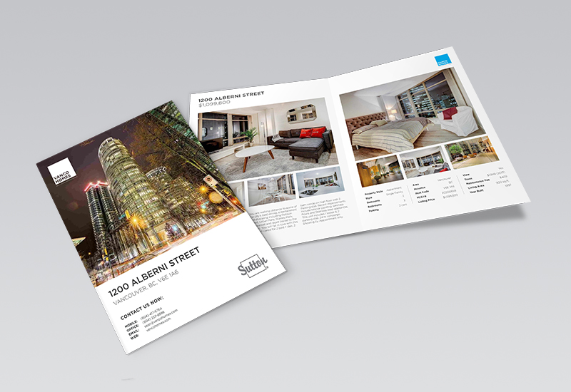 Vanco Homes 4 Page Feature Sheet